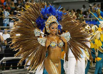 modela sambodromo carnavales del rio brasil