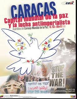consejo mundial de la paz caracas capital de la paz 2008