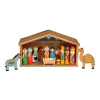 from learning journey this wooden nativity set is available from amazon learning journey makes educational and learning toys distributed by school - Wooden Nativity Set