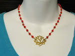 FIRE LOTUS is back! 22K Gold vermeil and Coral Only 2 left!