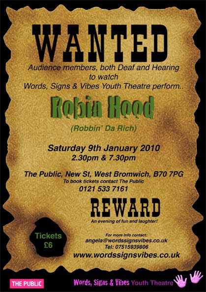 robin hood wanted poster template