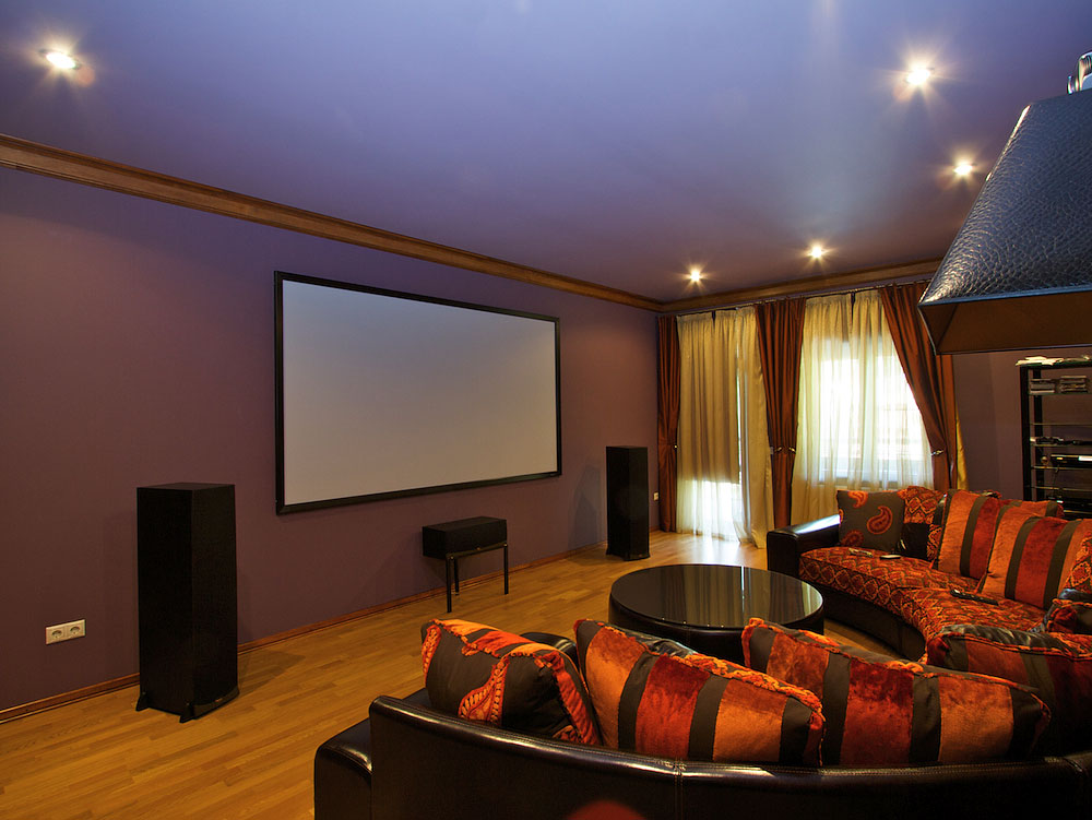 Home theater rooms some more pictures with commentaries for Home theatre decorations