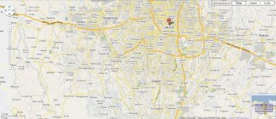 peta jakarta yang diambil dari google map