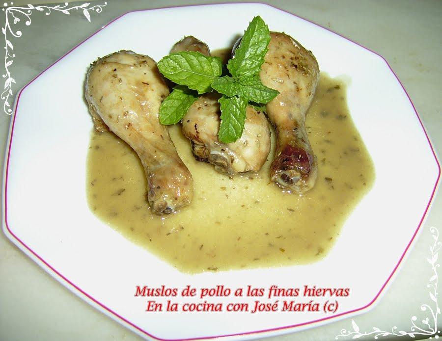 Muslos de pollo a las finas hierbas - Pollo asado a las finas hierbas ...