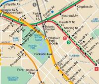 Metros enla Zona de Prospect Park