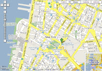 Localización de la estación de la calle Chambers en Google Maps