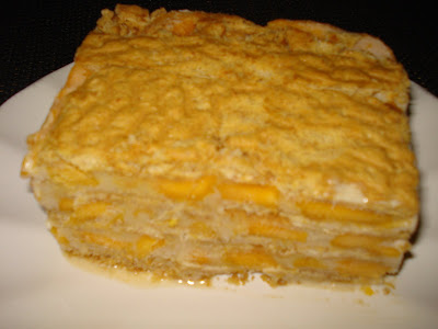 slice of yummy mango filled Mango Float.