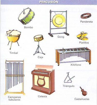 instrumentos de percusion. Instrumentos de percusión