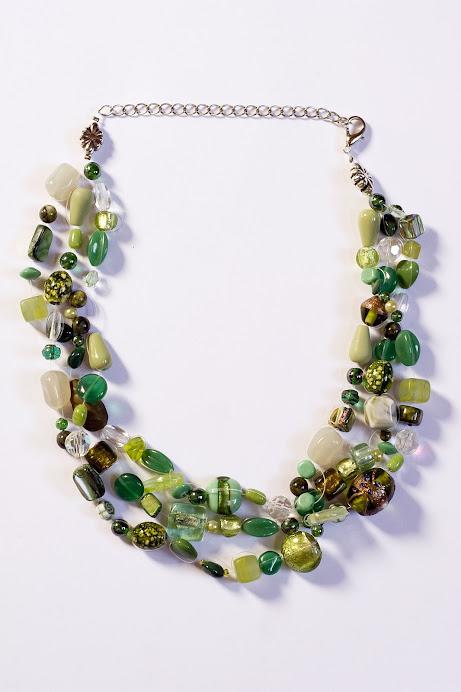 Collana Verde tre fili