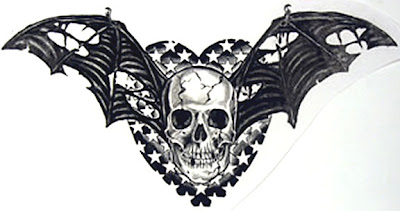 Skull Tattoo Design Wing 