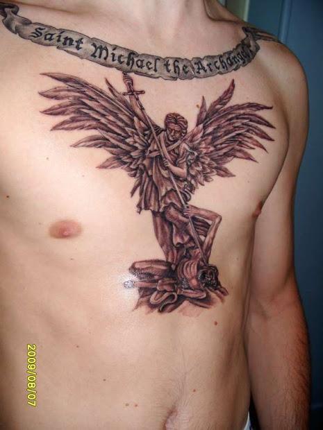 types of angel tattoo design