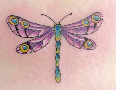 Dragonflies Tattoos is regarded a symbol of stamina, as he goes all day long