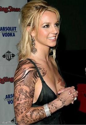 Britney Spears Hip Tattoos