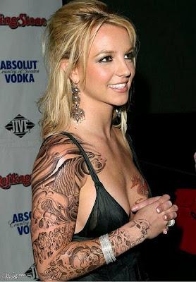 Britney Spears Hip Tattoos