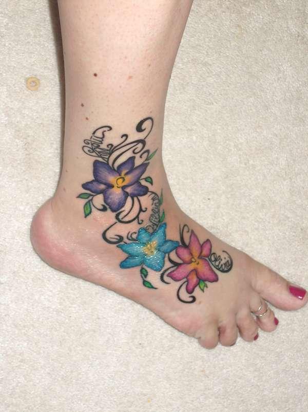 infinity tattoo women foot tattoos