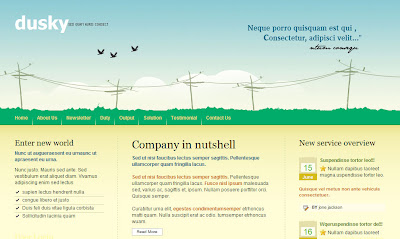 web hosting template
