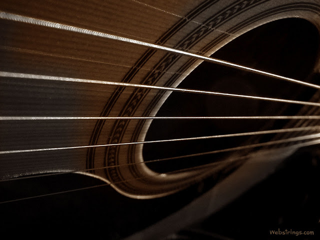 Acoustic Guitar Looking Down into Soundhole trough Strings acoustic guitars online