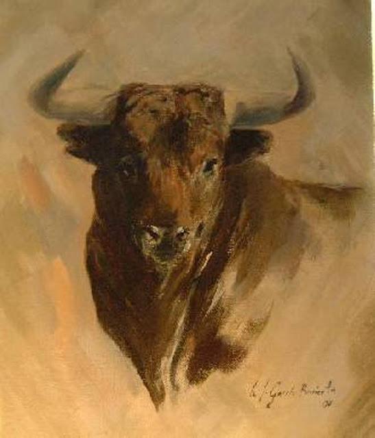 Y el caballo es mi afici n toros y campo en la pintura - Dessin de toro ...
