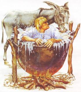 царят се къпе в мляко
