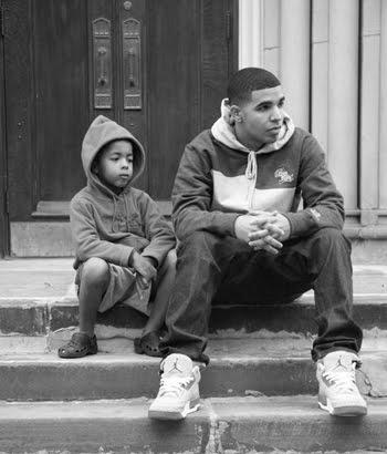 My Boii Drake With The Fade Haircut And The Air Jordan III's
