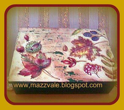 caja de te,hojas y frutos