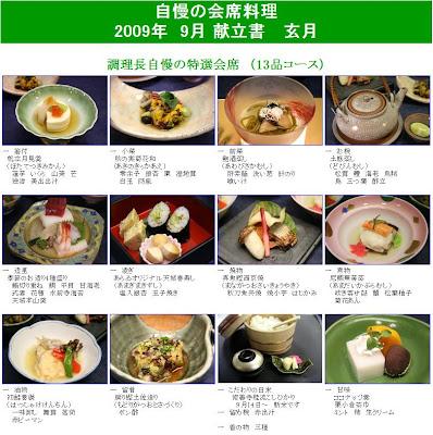 クリックすると大きくなります。新井旅館お料理