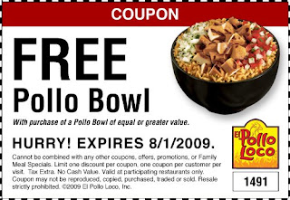picture relating to El Pollo Loco Coupons Printable called El Pollo Loco: BOGO Printable upon Pollo Bowl
