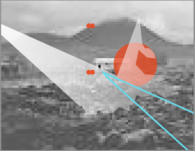 Konrad Wyrebek, new media digital print on light box, digital based artwork, pixaleted print, Artist Konrad Wyrebek
