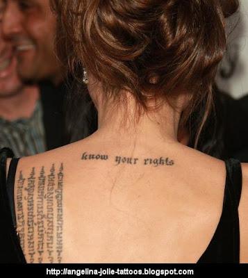 Angelina Jolie's Arm Tattoos continue to change. Angelina Jolie tattoos
