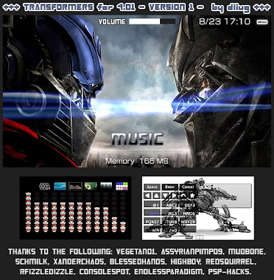 Transformers PSP themes for 4.01 (with 4.05 visualizer ...