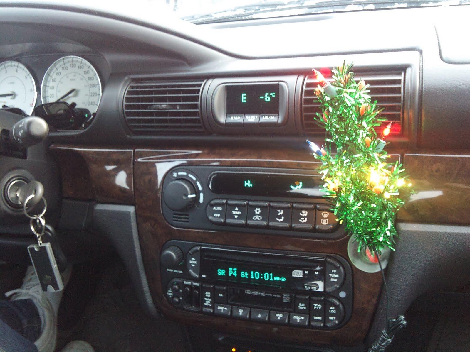 julgran till bilen