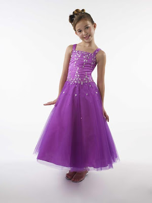 Flower girl purple dresses