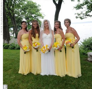 Yellow Dress on Wedding Dress   Wedding Dress   Bridesmaid Dress   Wedding Dresses