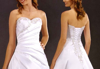 Lace Up Back Wedding Dresses With Bodice