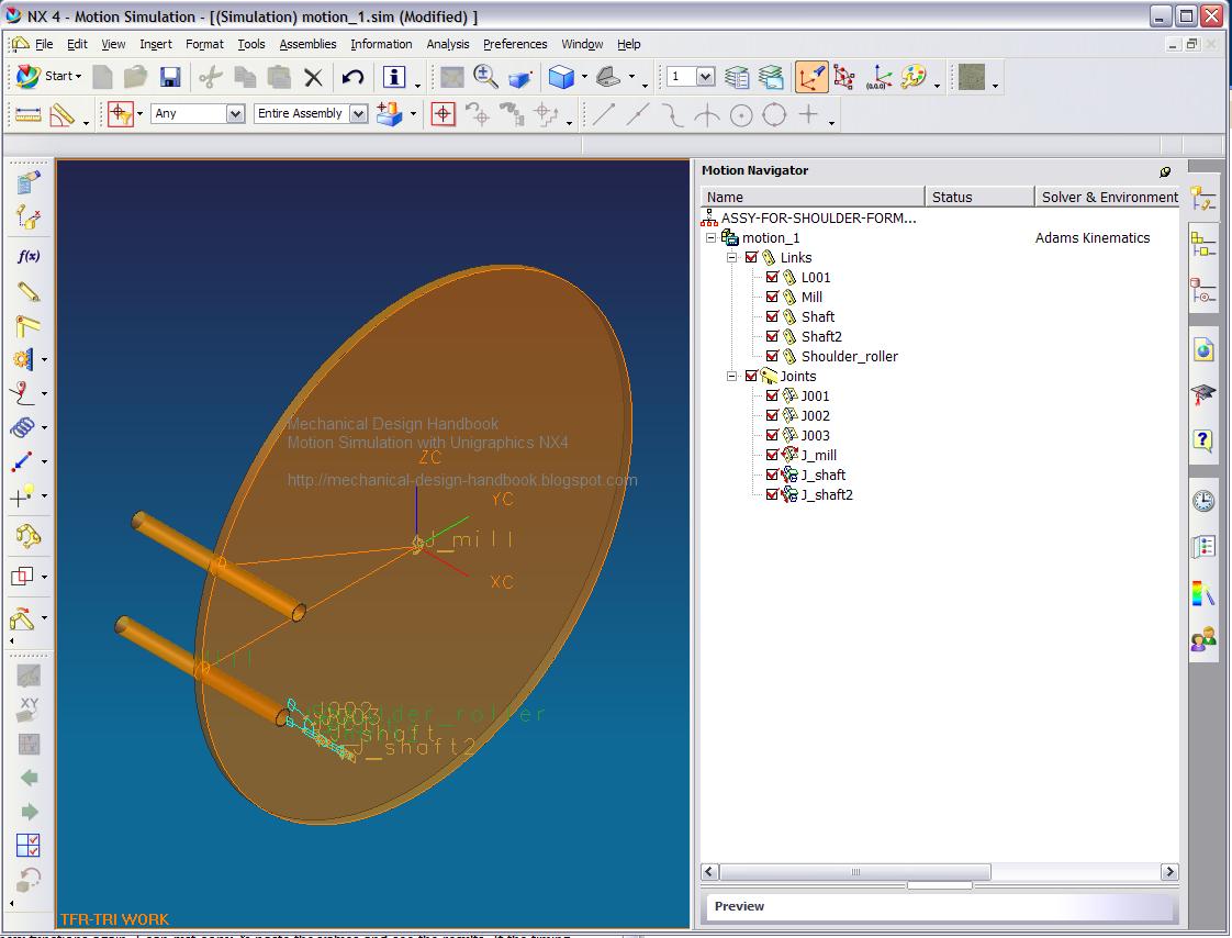 how to use unigraphics nx4 motion simulation in timing diagram rh mechanical design handbook blogspot com EMC NX4 Honeywell NX4