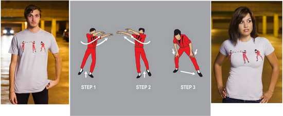 tee t-shirt michael jackson thriller dance move how to dancing clothing funny