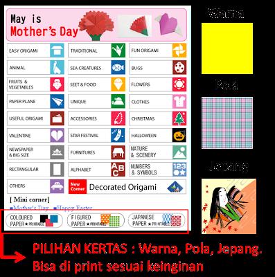 Situs Jepang Menarik Origami Club Pilihan Kertas