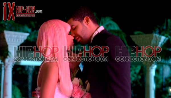 "Drake & Nicki Minaj gets married and share a kiss on the new video ""Moment"