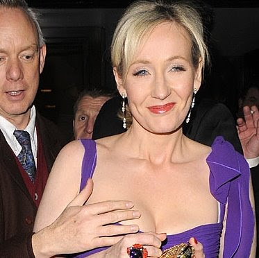 JK Rowling low cut dress