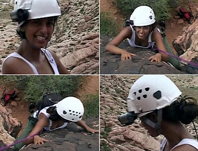 Konnie Huq climbing in Grand Canyon