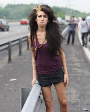 Amy Winehouse on M40 motorway