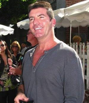 Simon Cowell leaving The Ivy