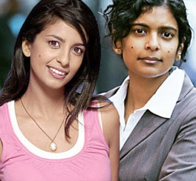 Konnie Huq with sister Rupa Huq