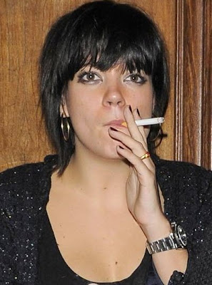 Lily Allen smoking