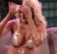 Megan Hauserman gets covered in water by Sharon osbourne