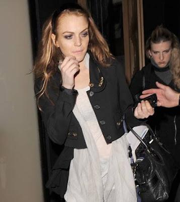Tired Lindsay Lohan