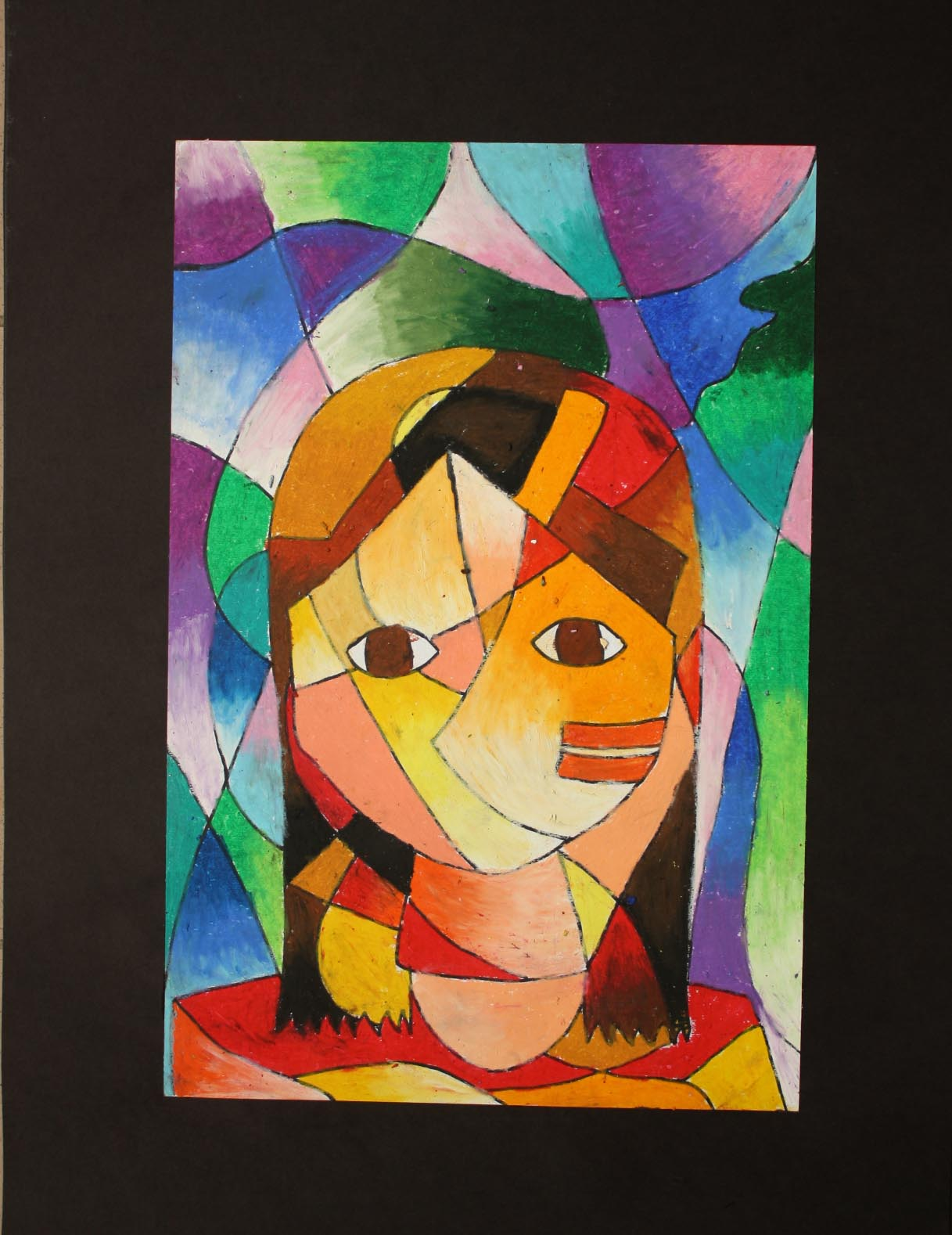 Warm Colors And How To Not Make It Clash Blocky If You Want See Paul Klees Drawing Click This Klee Portrait