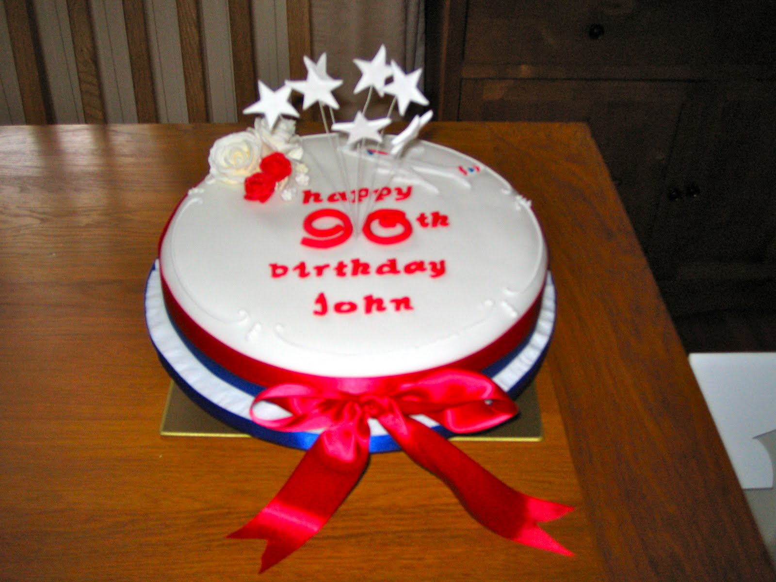 Birthday Cake For John : Betty Bakes: 90th Birthday Cake for John