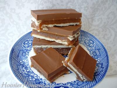 homemade crispy twix bars twix bar brownies homemade crispy twix bars ...