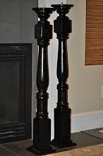 Candle Posts made from Stair Railings